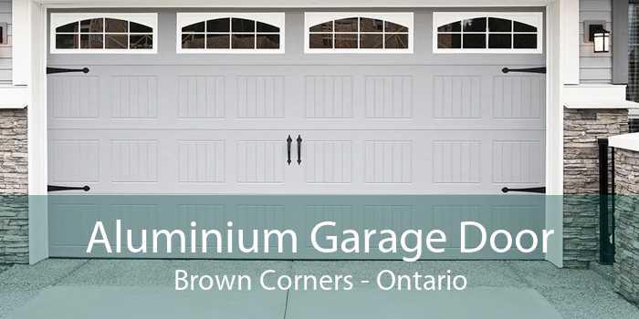 Aluminium Garage Door Brown Corners - Ontario