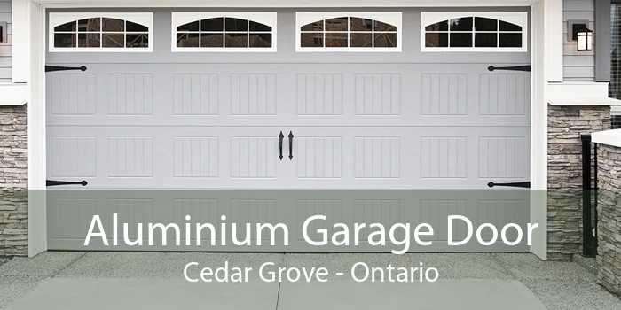 Aluminium Garage Door Cedar Grove - Ontario
