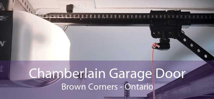 Chamberlain Garage Door Brown Corners - Ontario