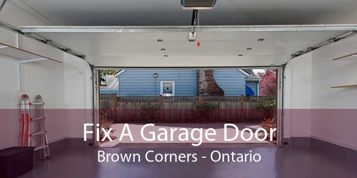 Fix A Garage Door Brown Corners - Ontario