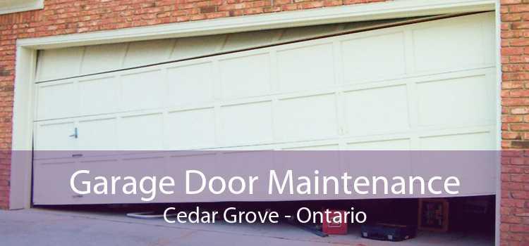 Garage Door Maintenance Cedar Grove - Ontario