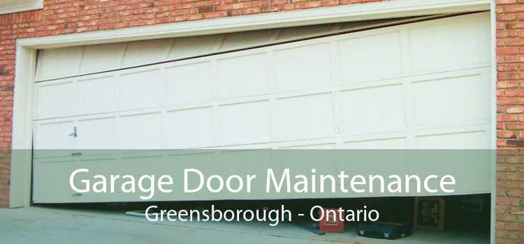 Garage Door Maintenance Greensborough - Ontario