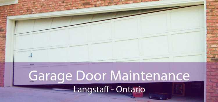 Garage Door Maintenance Langstaff - Ontario