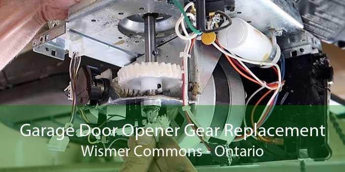 Garage Door Opener Gear Replacement Wismer Commons - Ontario
