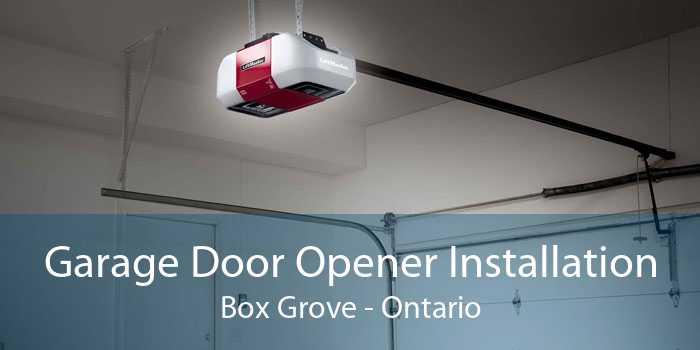 Garage Door Opener Installation Box Grove - Ontario