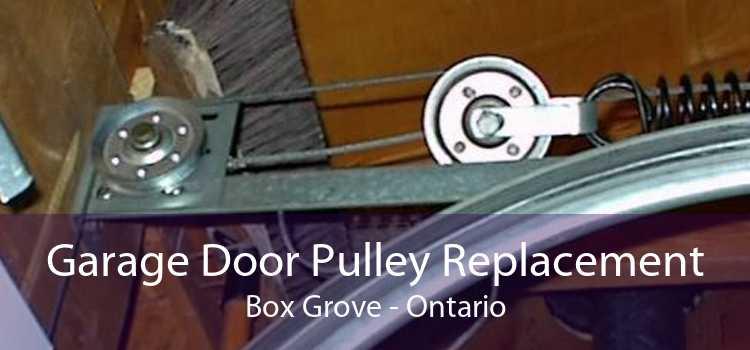 Garage Door Pulley Replacement Box Grove - Ontario