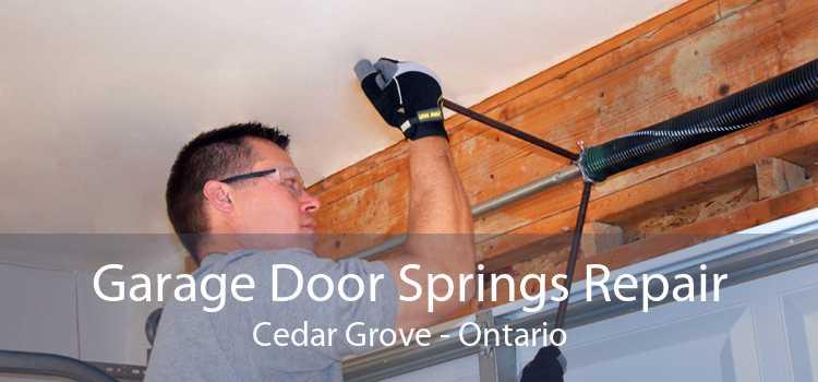 Garage Door Springs Repair Cedar Grove - Ontario