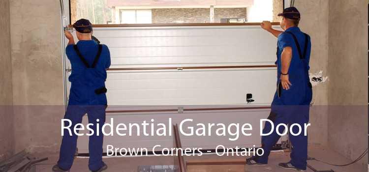 Residential Garage Door Brown Corners - Ontario