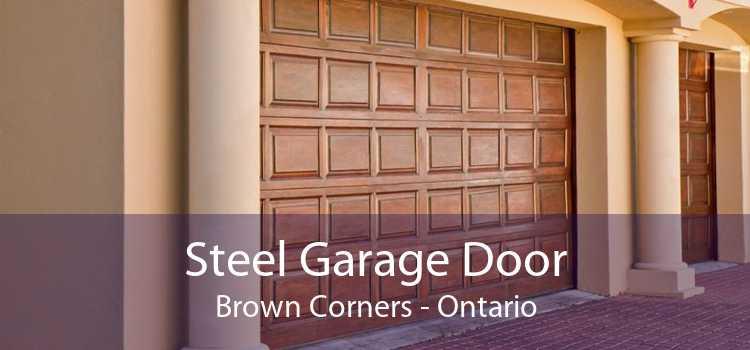 Steel Garage Door Brown Corners - Ontario