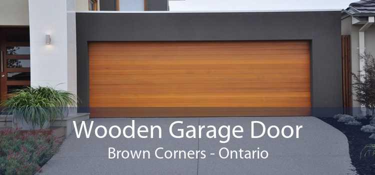 Wooden Garage Door Brown Corners - Ontario