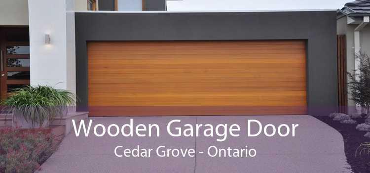 Wooden Garage Door Cedar Grove - Ontario