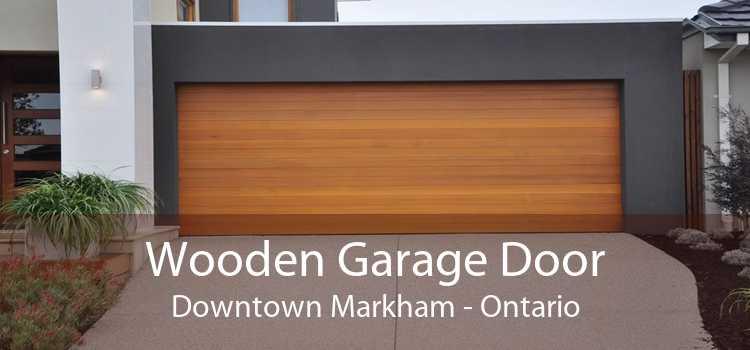 Wooden Garage Door Downtown Markham - Ontario