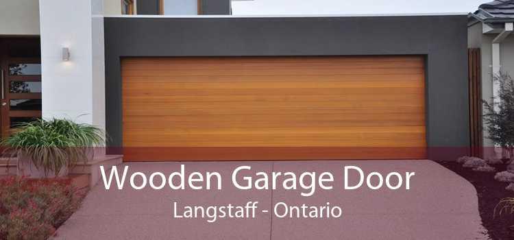 Wooden Garage Door Langstaff - Ontario