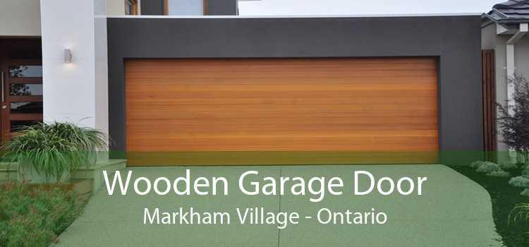 Wooden Garage Door Markham Village - Ontario
